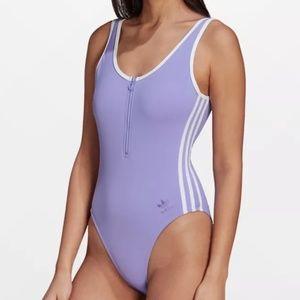 Adidas Women's Half Zip One Piece Swimsuit - S